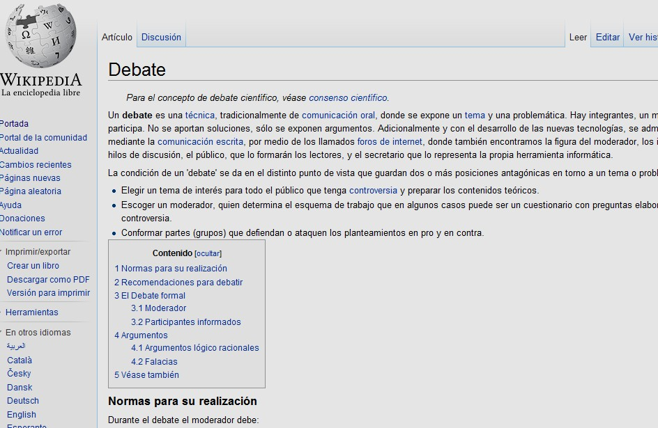 El debate | Recurso educativo 35013