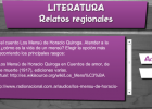 Relatos regionales | Recurso educativo 45245