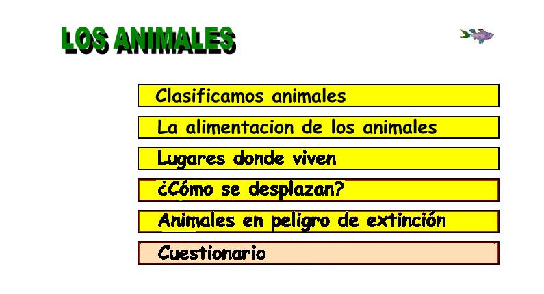 Los animales | Recurso educativo 46655
