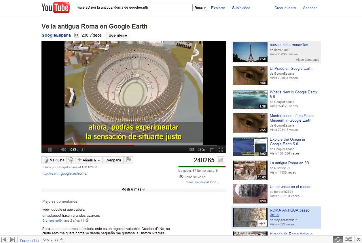 Ve a la Antigua Roma en Google Earth | Recurso educativo 49997
