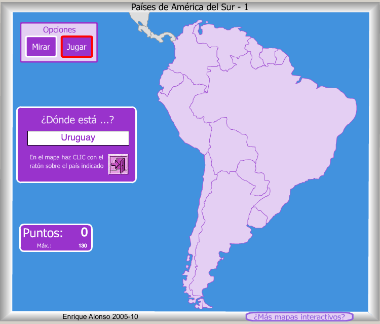 Países De América Del Sur Mapa Interactivo Recurso Educativo 686942 Tiching