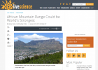 Is Table Mountain in Cape Town the World's Strongest Mountain? | Earth | Recurso educativo 751174