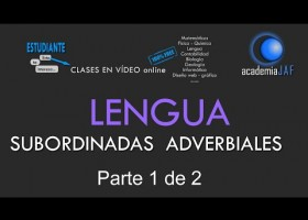 Oraciones subordinadas adverbiales | Recurso educativo 758747